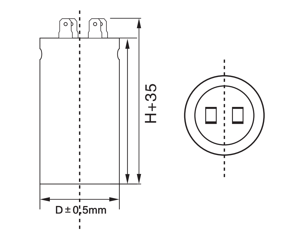 motor starting capacitor with 4 pins anatomy