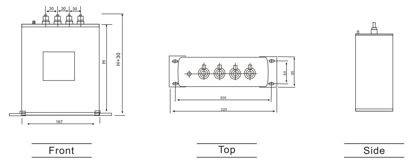 Cylindrical aluminum shell with base capacitor ANATOMY