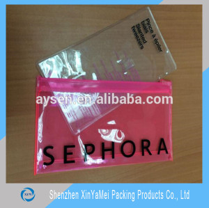 Alibaba professional factory customized durable clear vinly pvc zipper bags