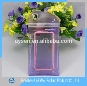 Makeup products transparent euro slot pvc bag