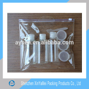ziplock plastic bag PVC clear cosmetic bag