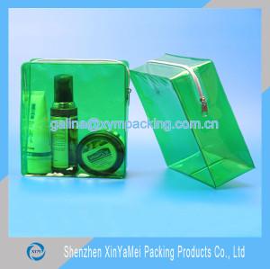 promotion zipper cosmetic pvc bag