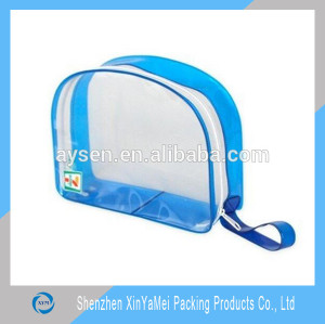Wholesale clear plastic PVC fashion travel cosmetic zipper bag
