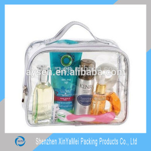 clear frosted pvc cosmetic bag for daily necessities