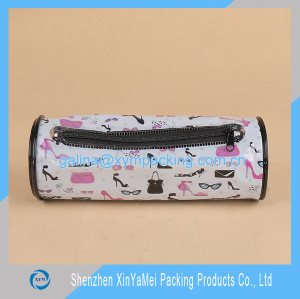 cheap PVC round zipper pencil case