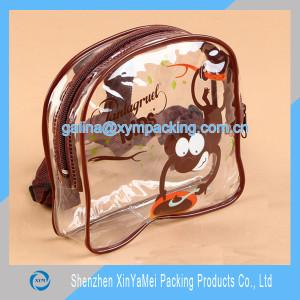 transparent pvc back pack bag for kids
