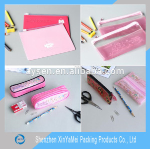 clear plastic pencil cases for kids with zipper