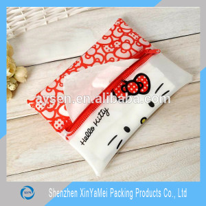 PVC zipper bag with pattern printing