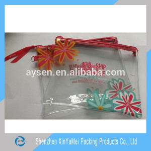 soft PVC foil pencil case with red zipper