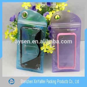 PVC Waterproof Bag for iPhone Packaging Bag Ziplock Baggies waterproof bag