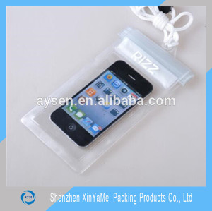 Promotion Industrial Use and Zipper Top Sealing & Handle pvc bag for smartphone