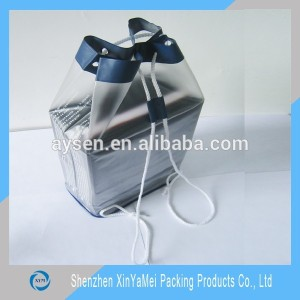 Custom Wholesale Clear PVC Packaging Bag With drawstring