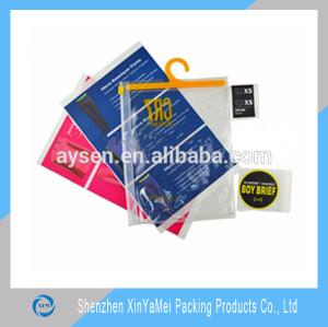 OEM transparent PVC bag/ PVC t-shirt bag/PVC hook bag