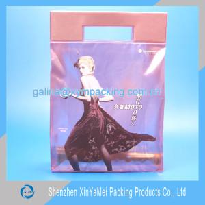 wholesale customized makeup gift toiletry ziplock pvc shopping bag
