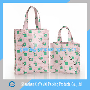 pvc coated cotton bag shopping