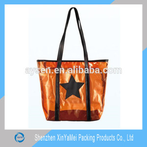 Printed resealable pvc shopping bag
