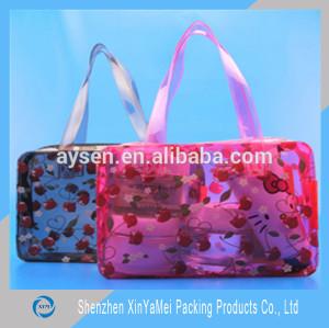 Vinyl clear plastic beach tote bag pvc handle bags