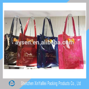 PVC Material and Handled Style tote shopping bags