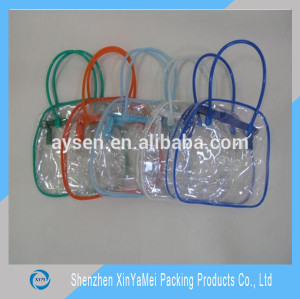 Hot Stamping Surface Handling Cosmetic PVC soft bag