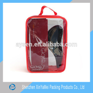 PVC frosted ziplock bag for swimming packing