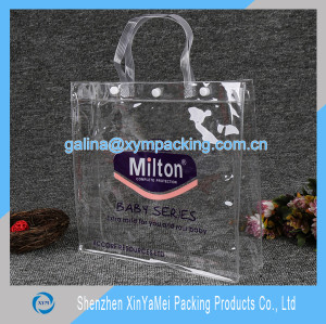 clear pvc bag with handle