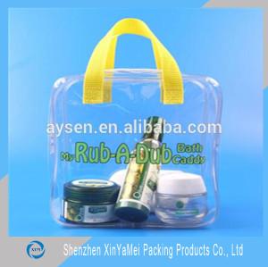 transparent pillow/Printed PVC tote bag/ Waterproof pvc bag
