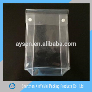 Snap button closure soft vinyl eva zipper bags