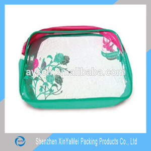 clear transparent cosmetic pvc bag