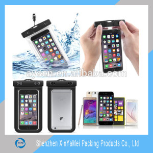 Hot Sale Promotional Clear Plastic PVC/EVA Zipper Pouch For Mobile Phone