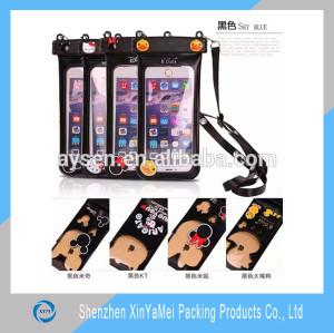 Promotional mobile phone pvc waterproof bag, clear waterproof cell phone bag