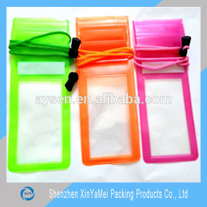 pvc waterproof bag with velcro closure