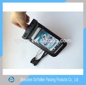 Plastic pvc waterproof bag for phone, iphone