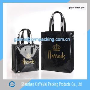 tote bag shiny black pvc