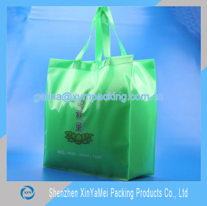 Transparent PVC plastic shopping bag