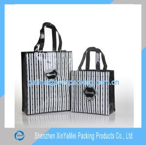reusable vinyl tote shopping bag