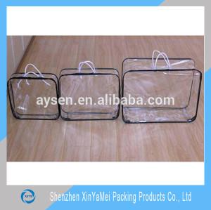 custom size printing plastic clear pvc storage bag blanket