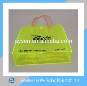 colorful printing pvc shopping bag / glossy pvc bag