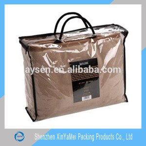 pvc transparent plastic bag for quilt