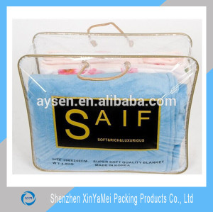 new transparent pvc quilt packing bag for packing quilt