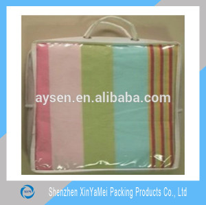 Plastic clear PVC bedding quilt cover packaging bags for cheap sale