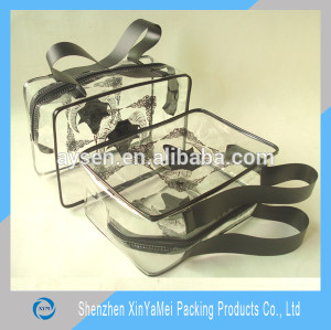 clear pvc handle bag