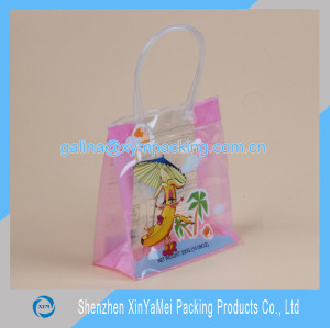 Plastic Tote Bag with Zipper