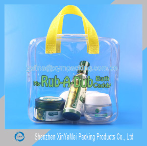 Different size promotion neon wholesale vinyl tote bag