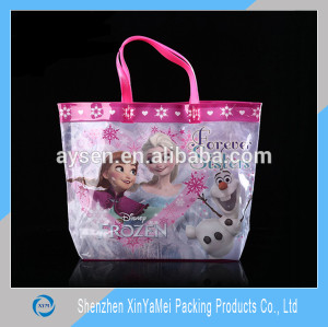 Customized Eco-friendly clear pvc tote bag