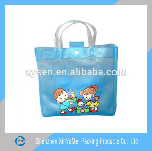 cheap clear plastic pvc bag with snap button