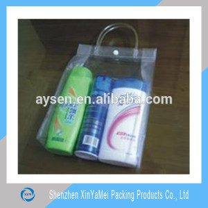 China supplier custom shampoo PVC packaging bags, shower gel PVC bags