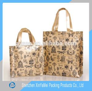 PVC Tote Bag, Luxury Shiny PVC Zipper Bag with CMYK printing