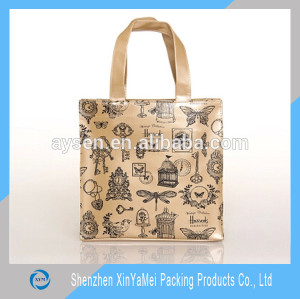 Eco-friendly China made waterproof multi-colours fashion pvc tote bag