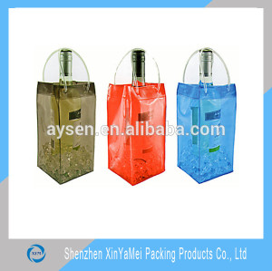 PVC Material and Zipper Top Sealing & Handle water bottle bag