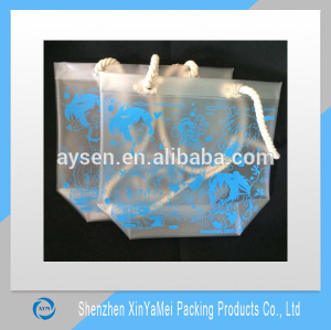 Custom Color Transparent PVC Material Promotional Cheap Plastic Shopping Bag